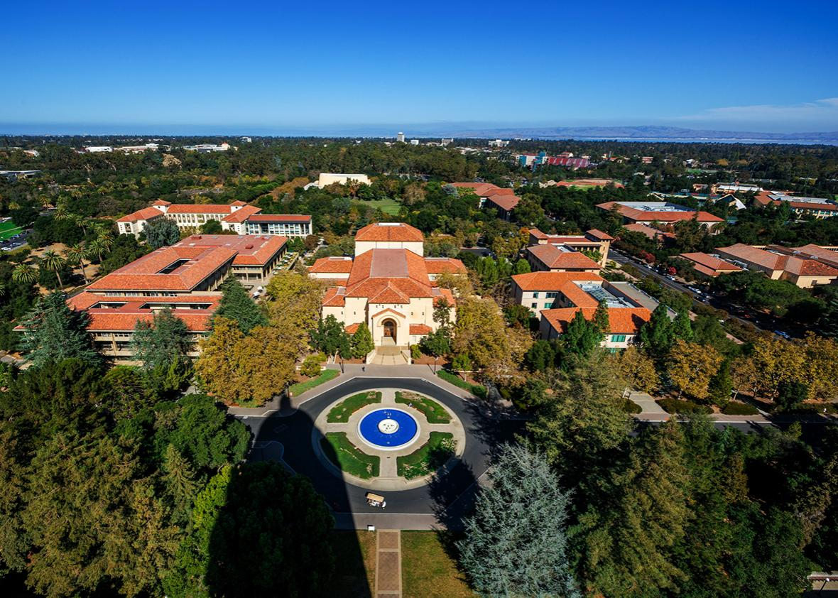 Overhead View of Stanford University.