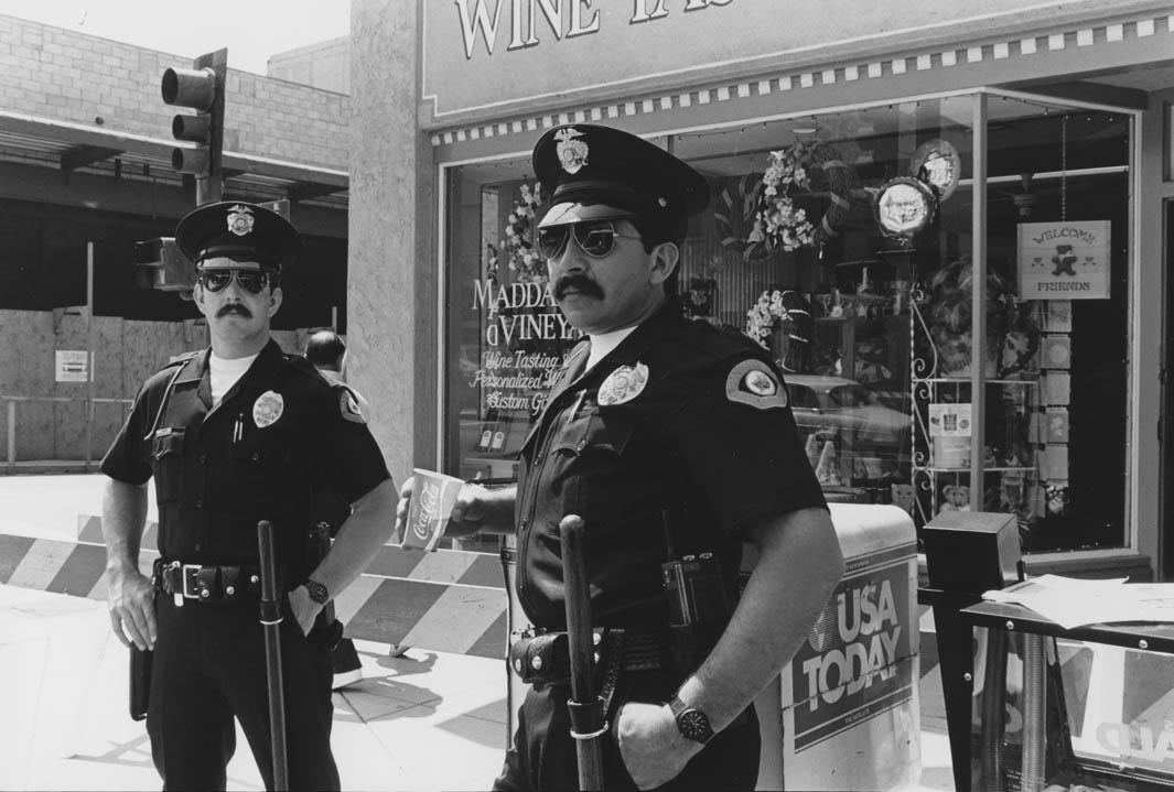6/14/86 Officers Crawford and Uribe, Pasadena Centennial Parade