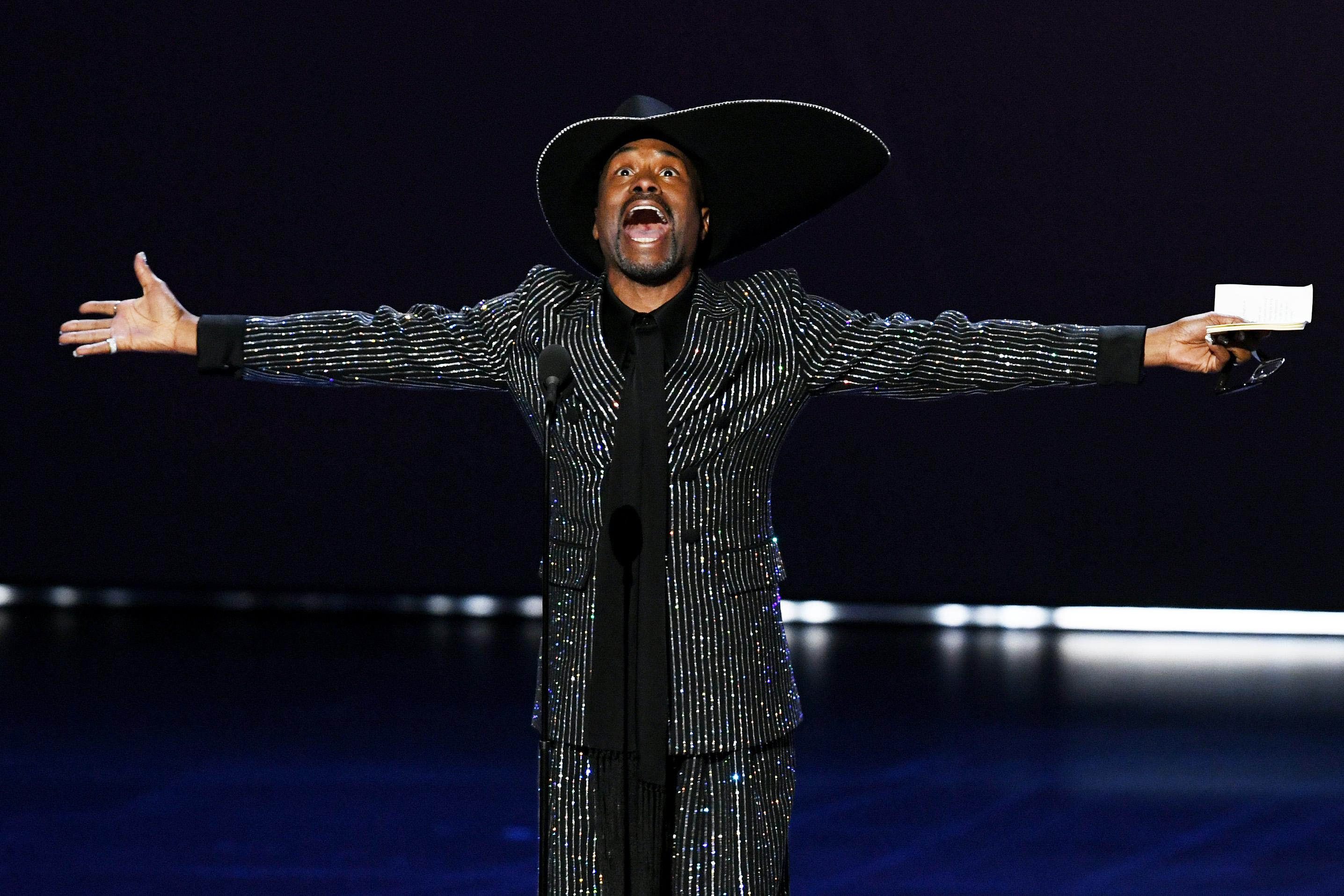 Billy Porter accepts the Outstanding Lead Actor in a Drama Series award for 'Pose' onstage during the 71st Emmy Awards at Microsoft Theater on September 22, 2019 in Los Angeles, California.