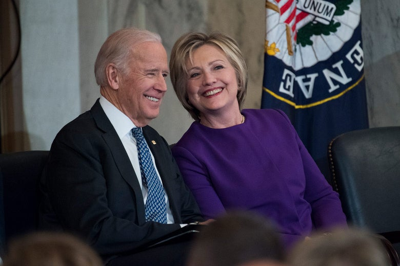 Vice President Joe Biden and former Secretary of State Hillary Clinton on Dec. 8, 2016, in Washington.