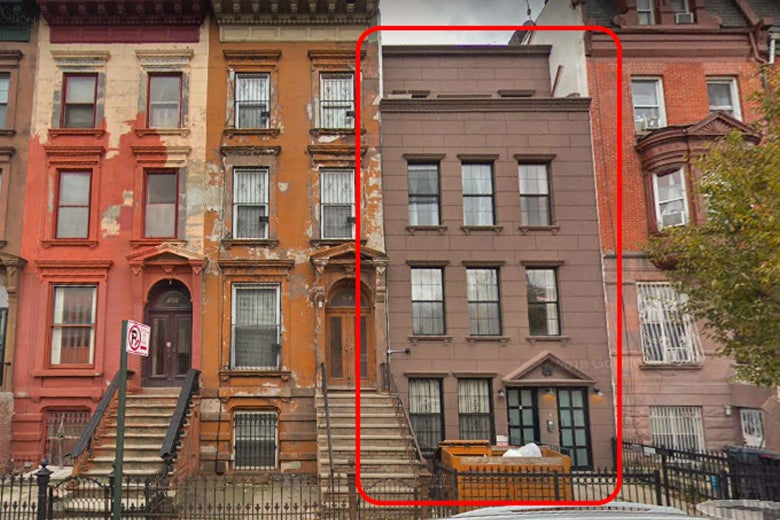 196 Lefferts Place on Google Street View.