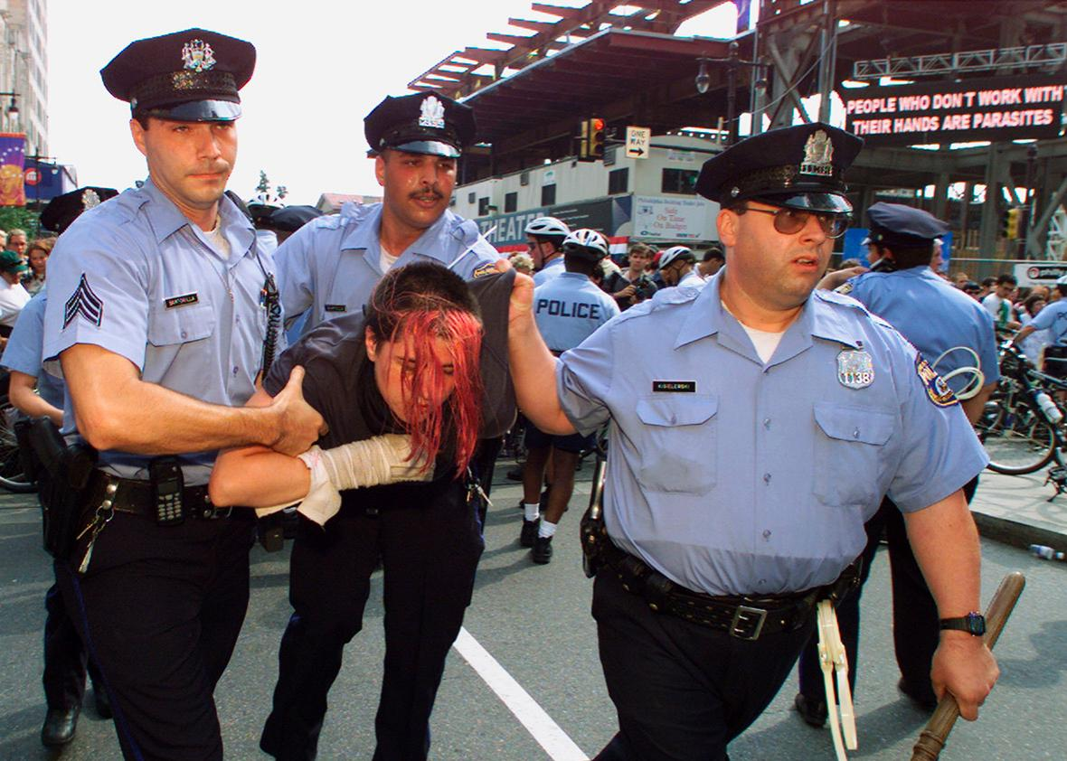 Police were brutal during the 2000 RNC, but they seem to have