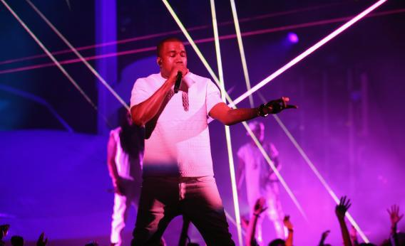 Kanye West performs at the 2012 BET Awards in July
