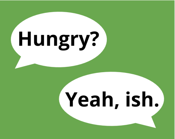 Ish: How a suffix became an independent word, even though