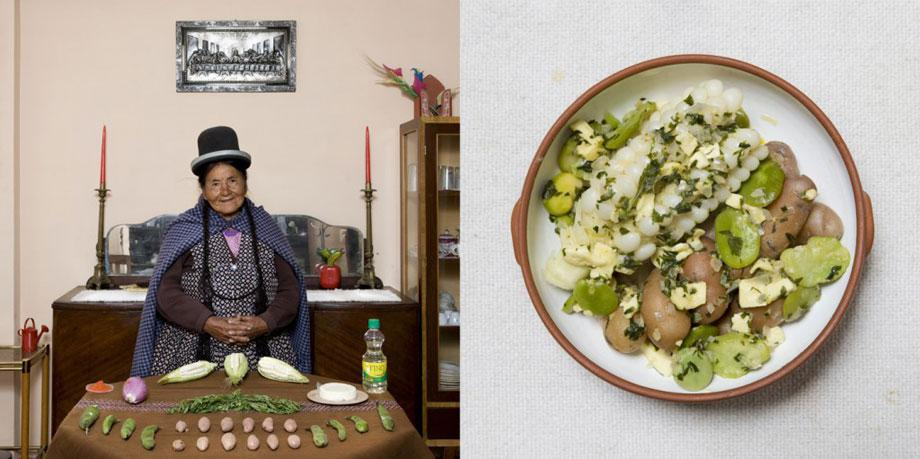 Julia Enaigua, 71 years old – La Paz, Bolivia- Queso Humacha (vegetables and fresh cheese soup) –