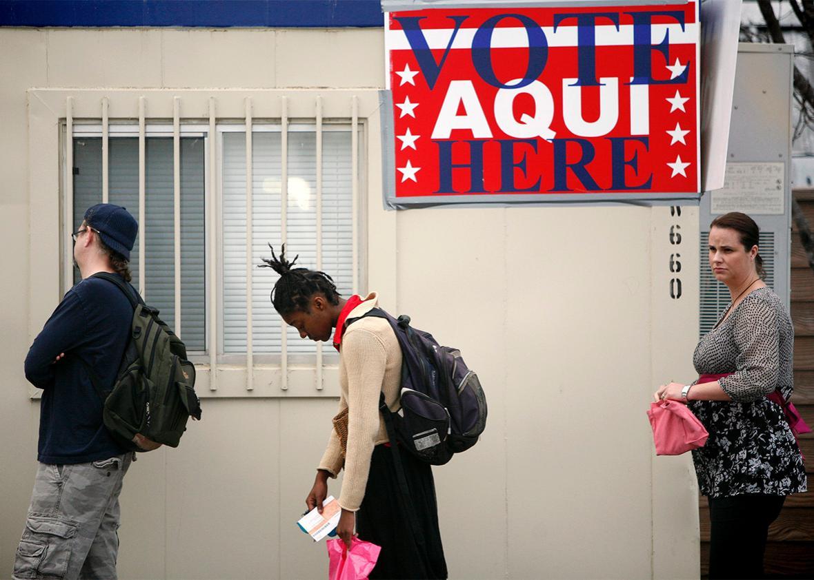 Austin, Texas polling place