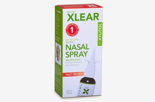 Xlear Natural Saline Nasal Spray.