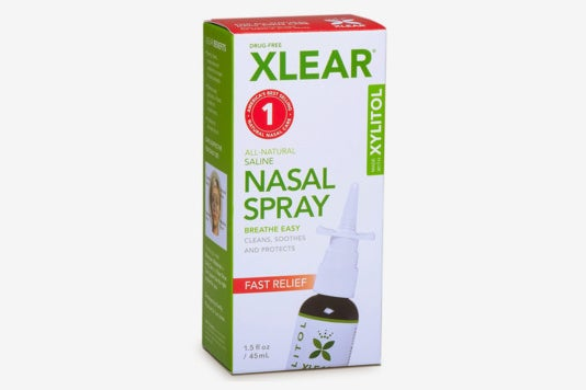 Xlear Natural Saline Nasal Spray.
