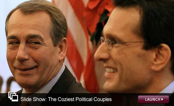 Slide Show: The Coziest Political Couples. Click to launch.