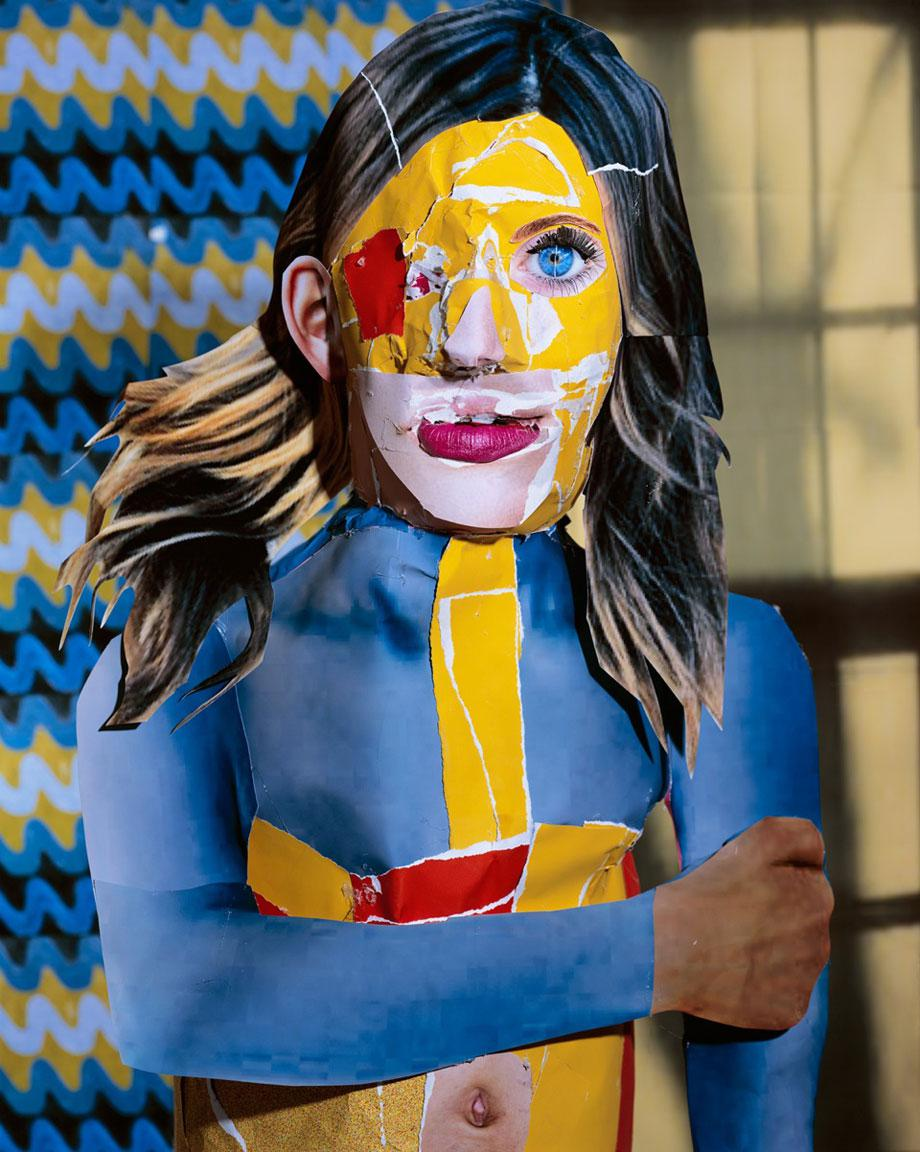 Portrait in Yellow, Orange and Blue, 2012