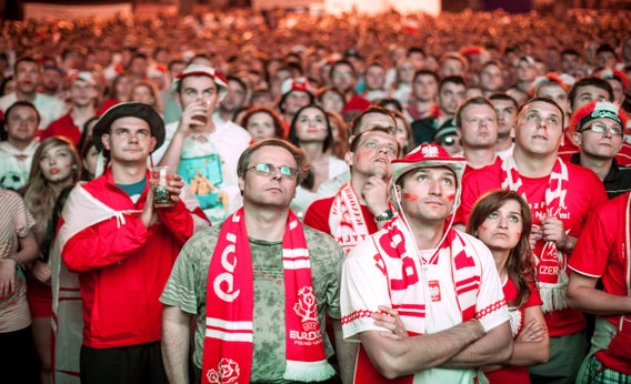 Czech fans in Poland.
