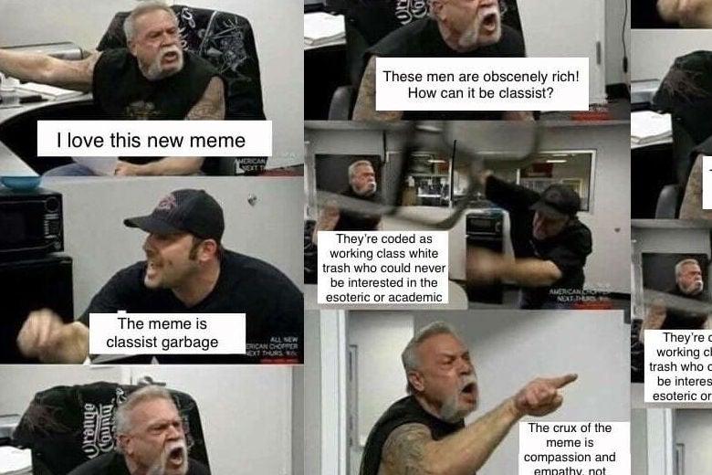 angry motorcycle guys meme