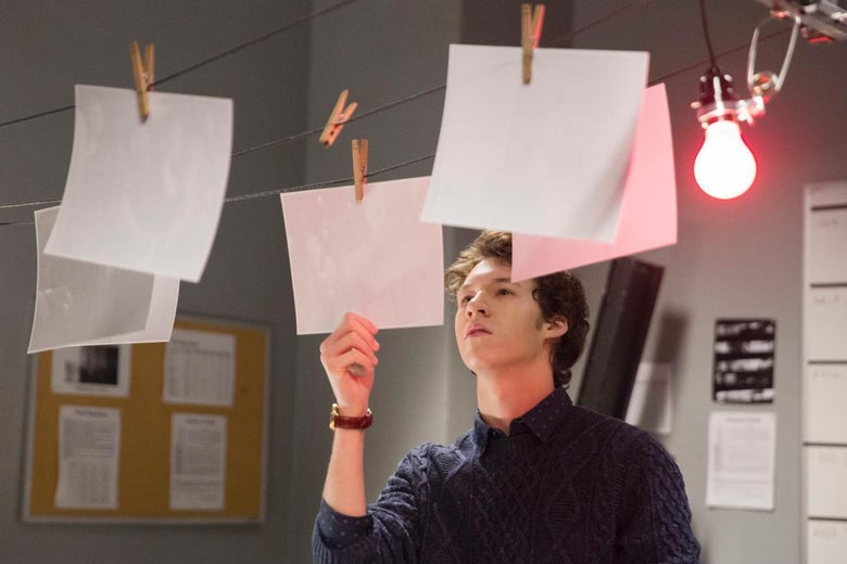 Devin Druid as Tyler, the high schooler who has been stocking up on guns, in 13 Reasons Why.