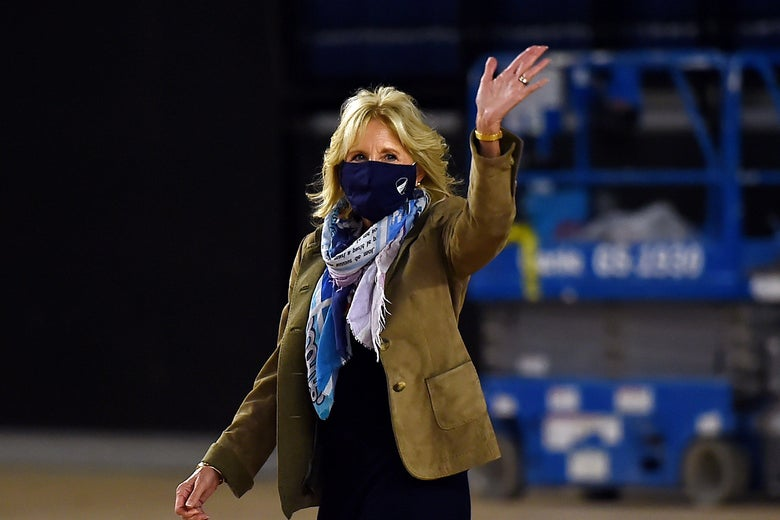 Jill Biden waving