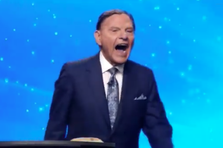 Kenneth Copeland laughs in this screenshot of a clip of his sermon posted online on Nov. 8, 2020.