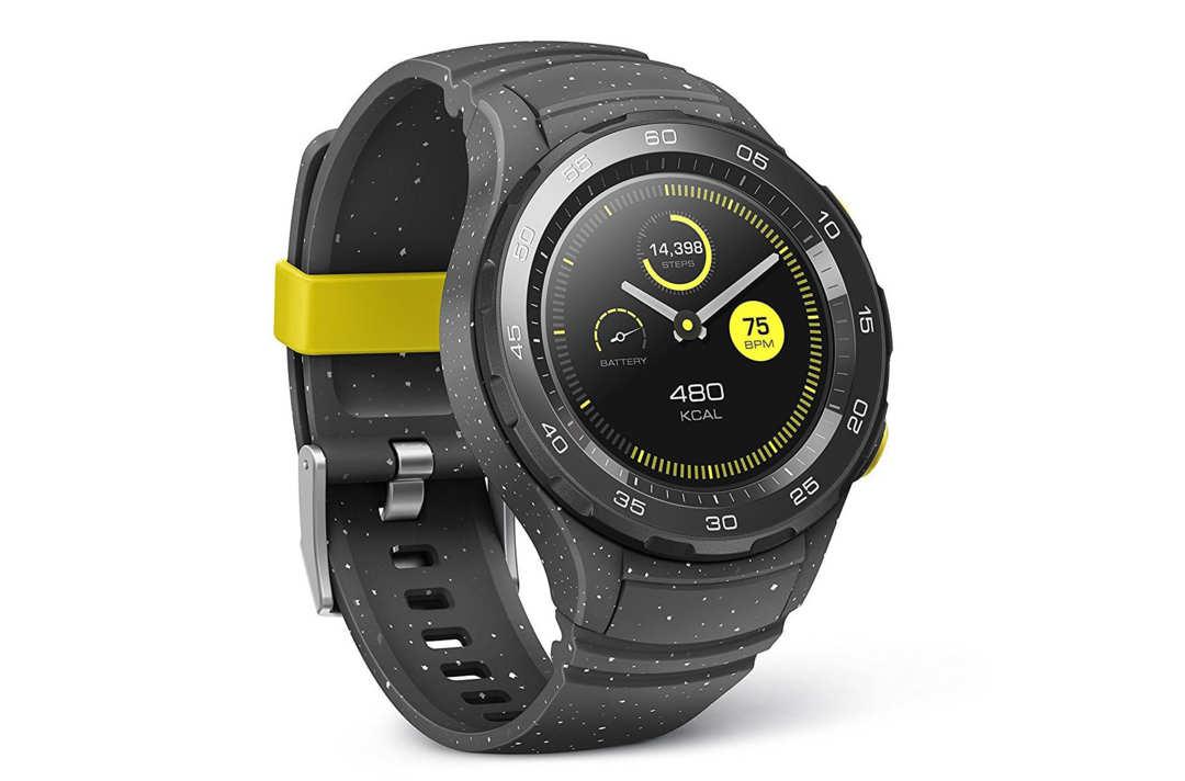 Black Huawei sport watch.