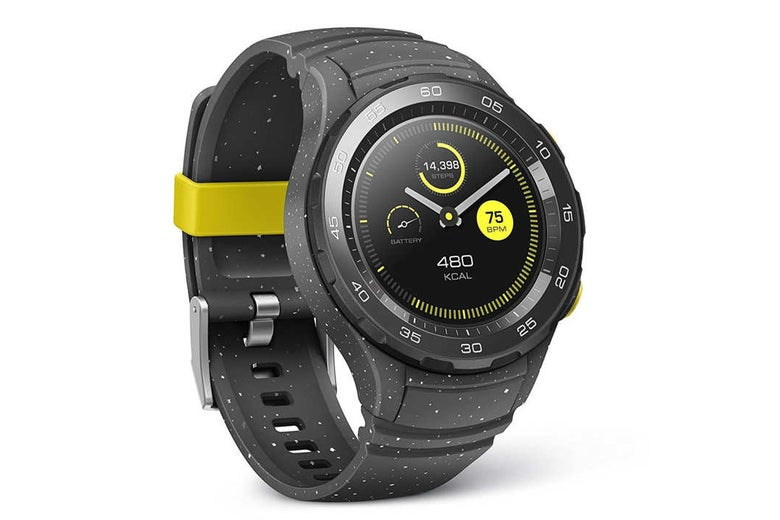 Black Huawei sport watch.