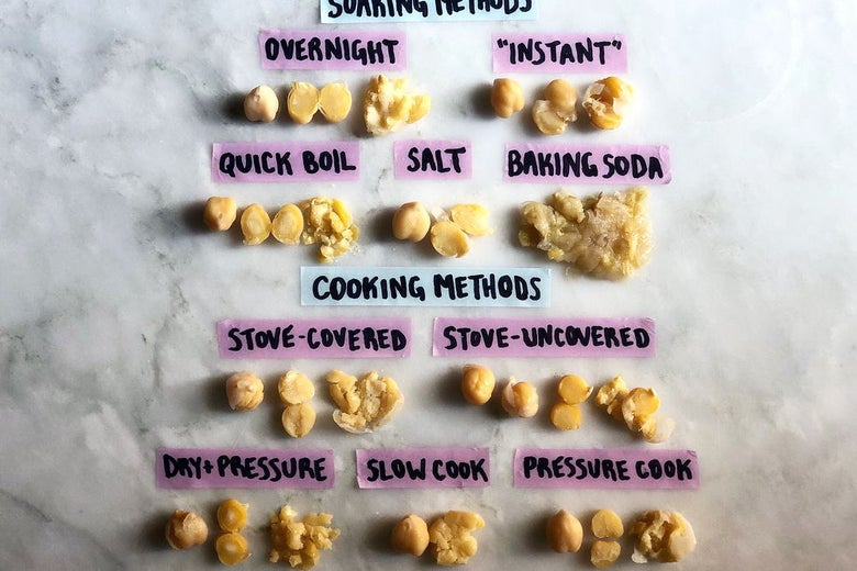 Chickpeas cooked different ways
