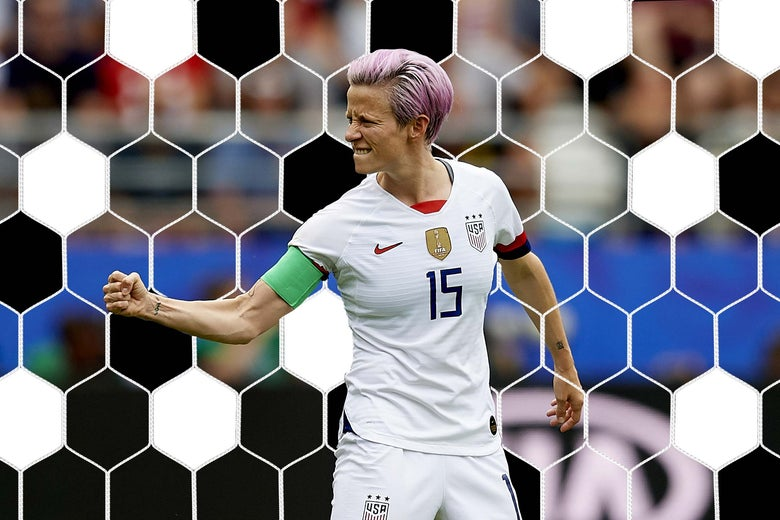 Megan Rapinoe as seen on June 24 during the Women's World Cup in Reims, France.