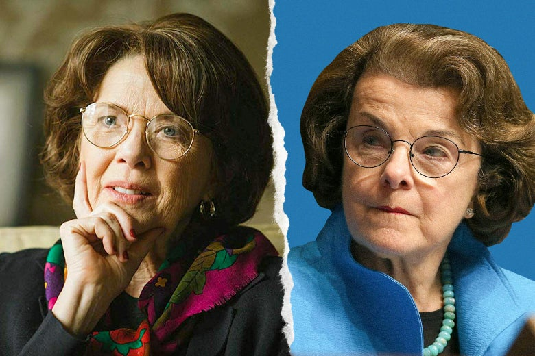 Annette Bening and Dianne Feinstein.