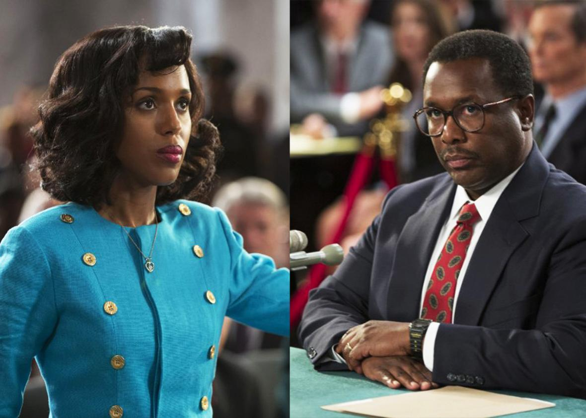 Stills of Kerry Washington and Wendell Pierce in Confirmation.
