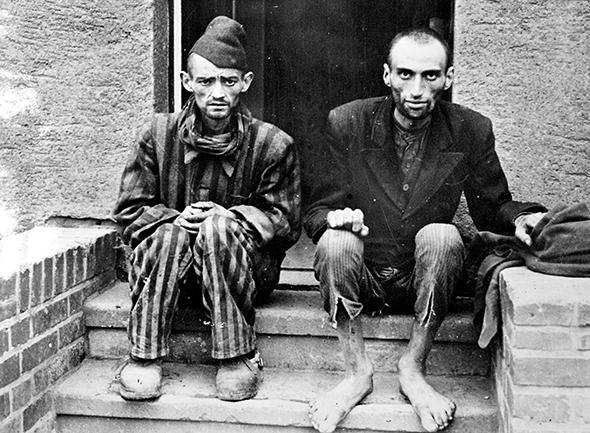 Survivors of the Dachau concentration camp