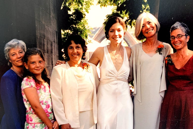 Brooklyn Joseph with her mothers in 2005