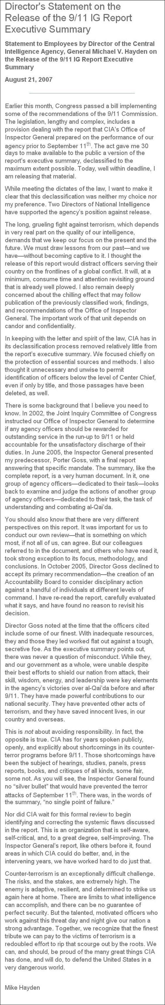 The CIA vs  Its Inspector General