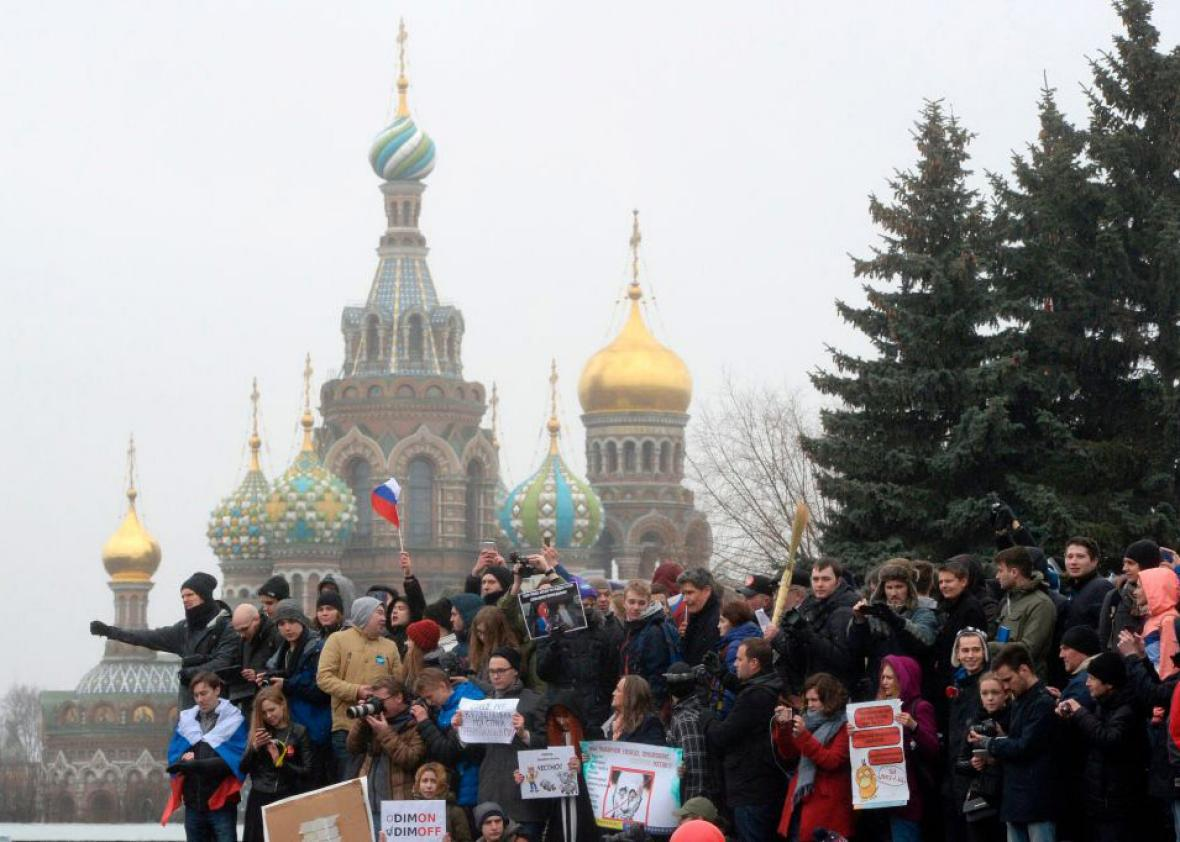 Thousands of Russians demonstrated across the country