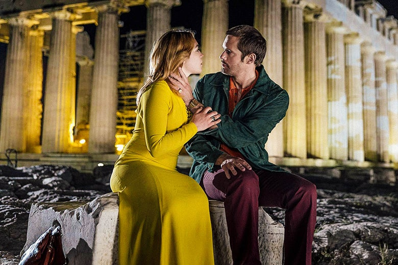 Florence Pugh and Alexander Skarsgård in The Little Drummer Girl.