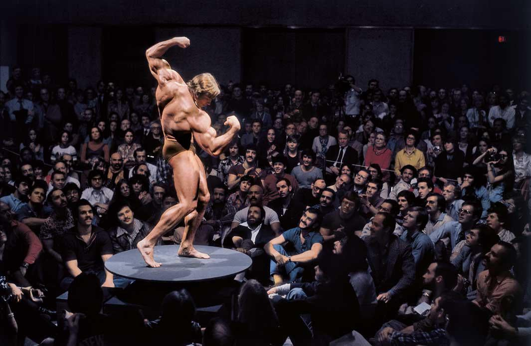 "New York City, 1976 Arnold Schwarzenegger, ""Articulate Muscle: The Male Body in Art"" at the Whitney Museum"