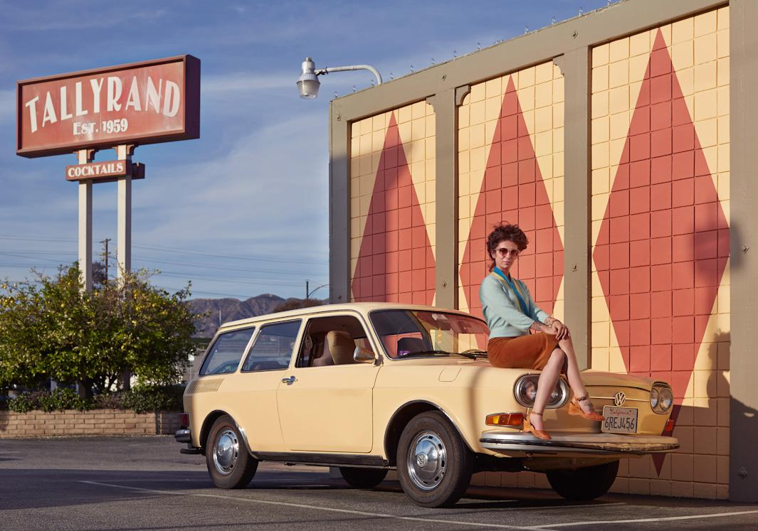 Nicole Dreyfuss and her 1971 Volkswagon 411 Squareback Burbank, California March 2014