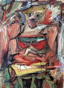 """Willem de Kooning's 1952-53 painting """"Woman V."""""""