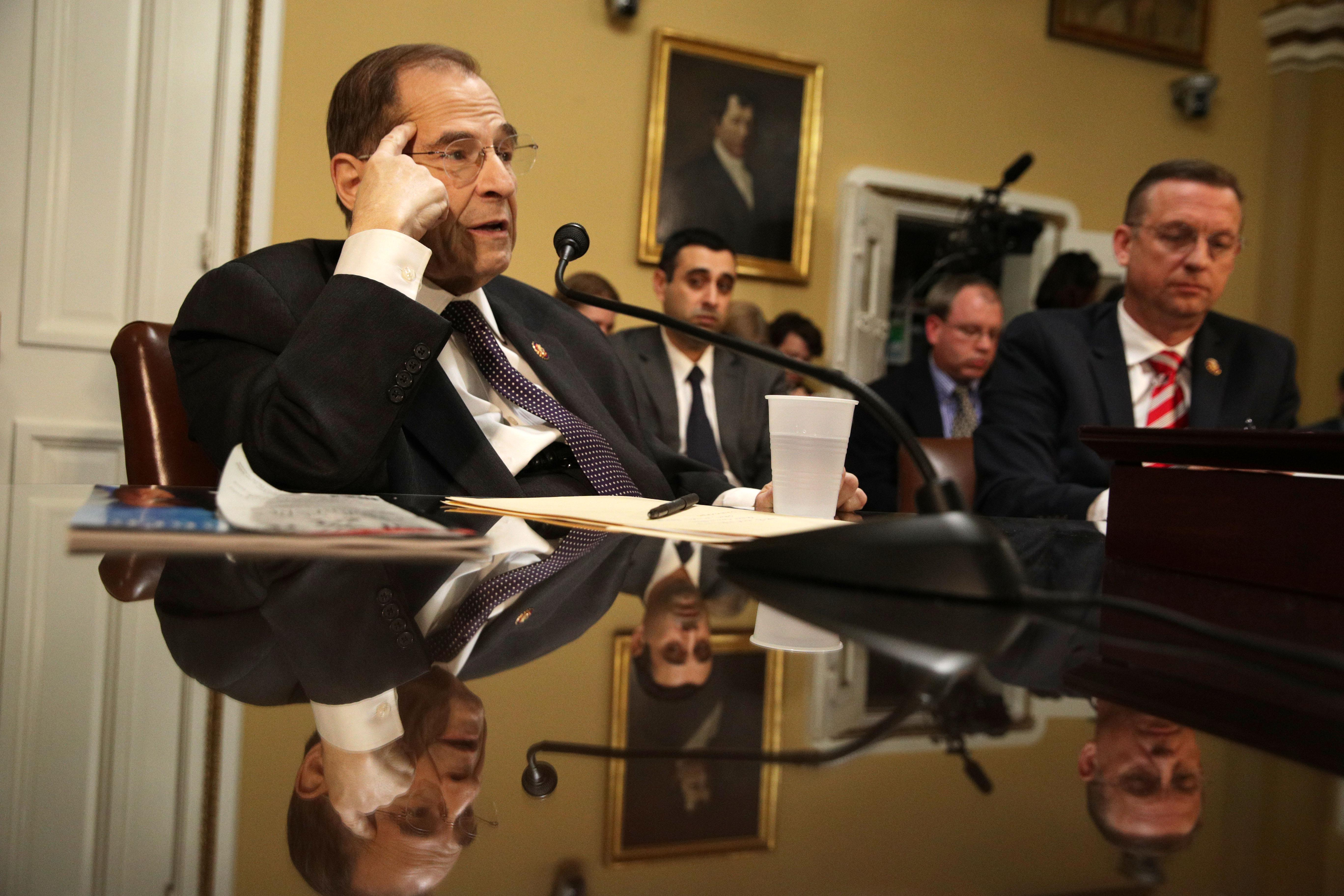 Rep. Jerrold Nadler speaks during a House Rules Committee meeting at the U.S. Capitol on February 25, 2019 in Washington, D.C.