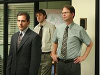 Steve Carell, John Krasinksi, and Rainn Wilson in The Office. Click image to expand.