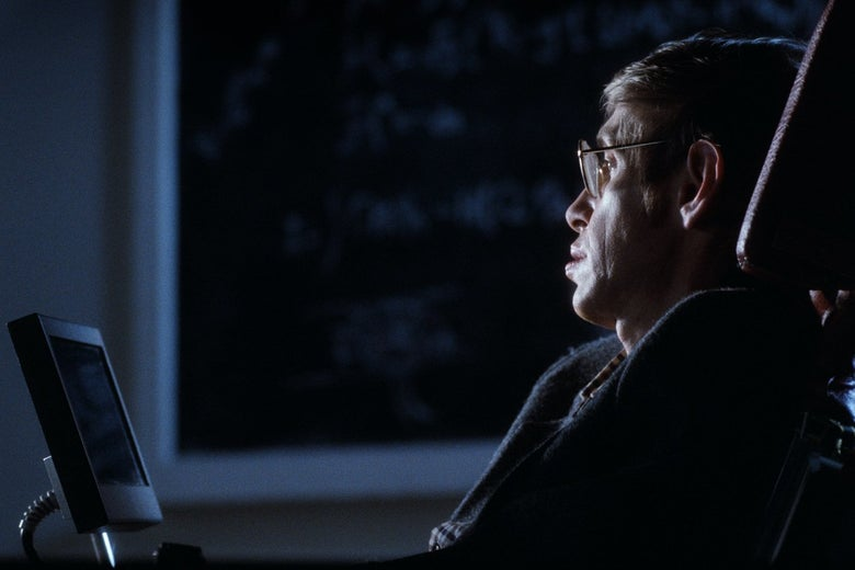 Stephen Hawking in Errol Morris' A Brief History of Time.