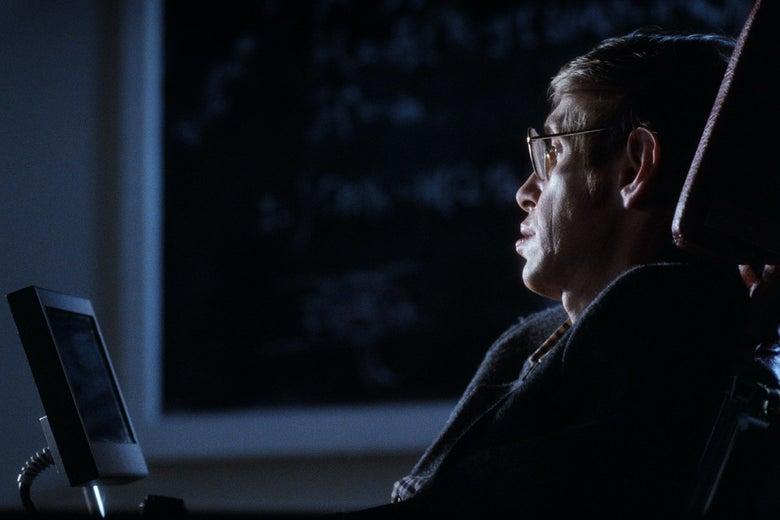 Stephen Hawking in Errol Morris' A Brief History of Time.