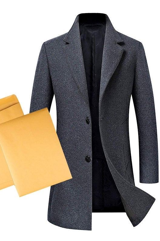 Long coat and envelopes