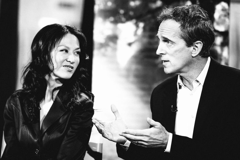 Amy Chua and Jed Rubenfeld in a black and white photo.