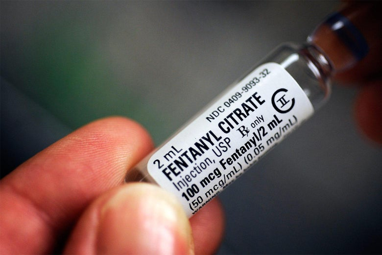A vial of fentanyl citrate.