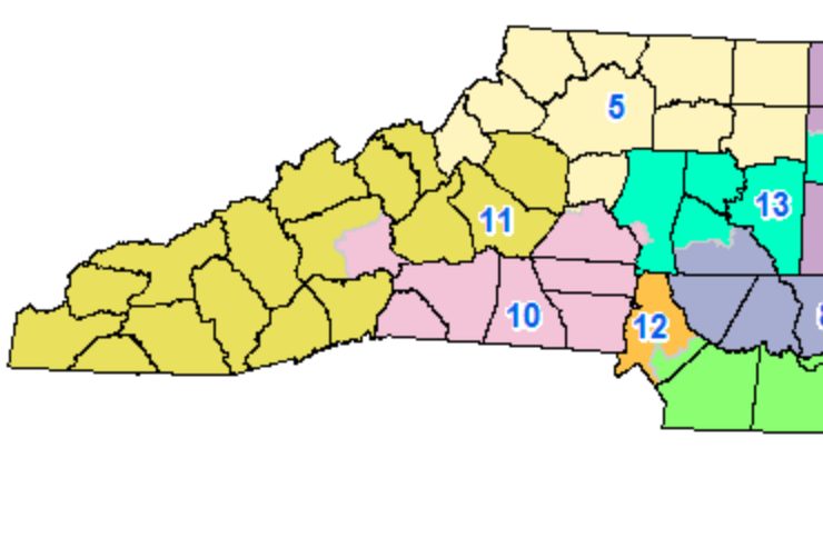 North Carolina congressional map.
