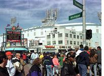 Fans walk to Tiger Stadium          Click image to expand.