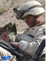 A soldier in Afghanistan. Click image to expand.