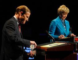 Richard Blumenthal and Linda McMahon debate. Click image to expand.