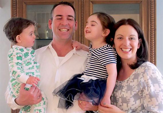 Sara Kushnick and family; celebrating daughter Raia's first birthday, April 08, 2013.