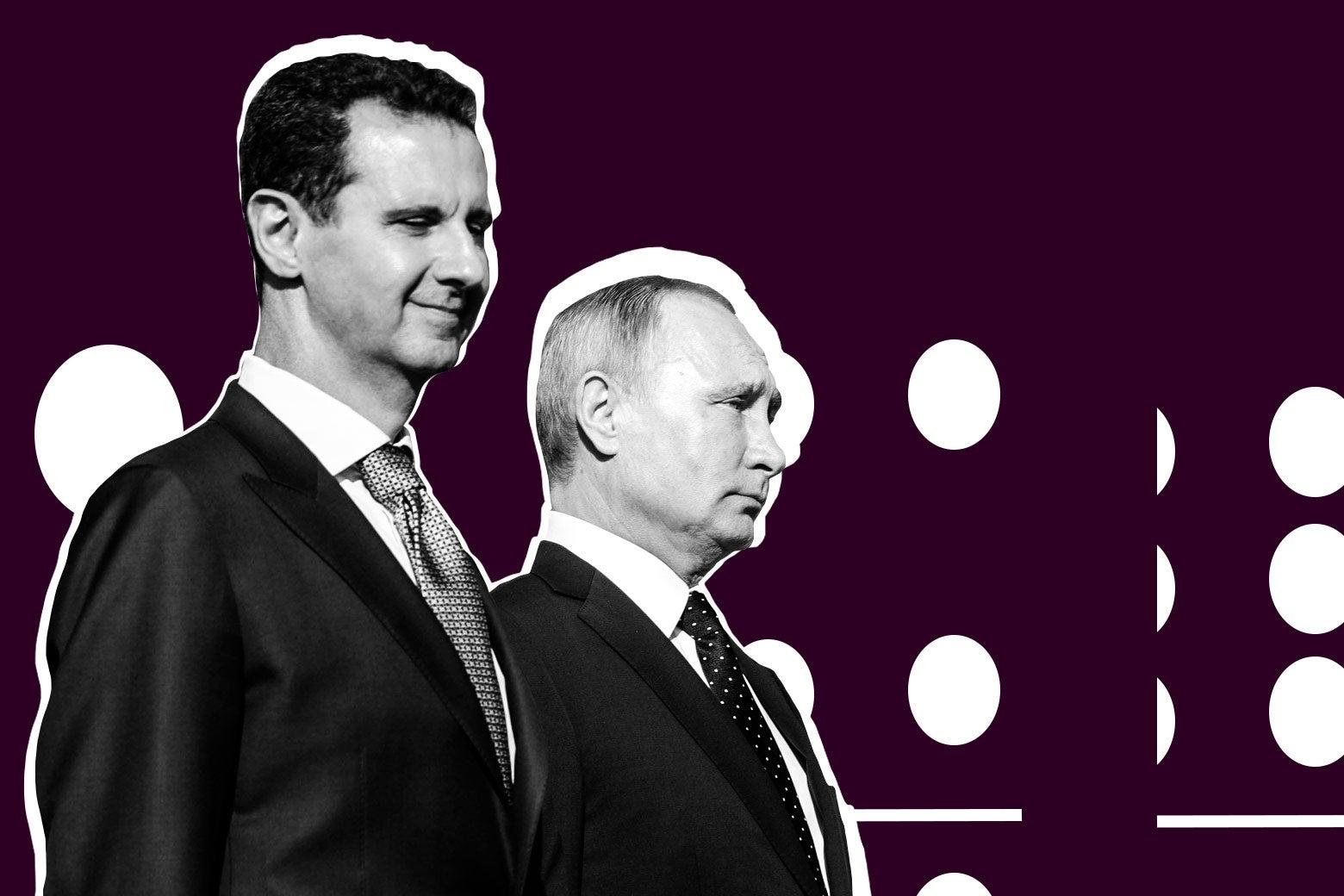 Syrian President Bashar al-Assad and Russian President Vladimir Putin.