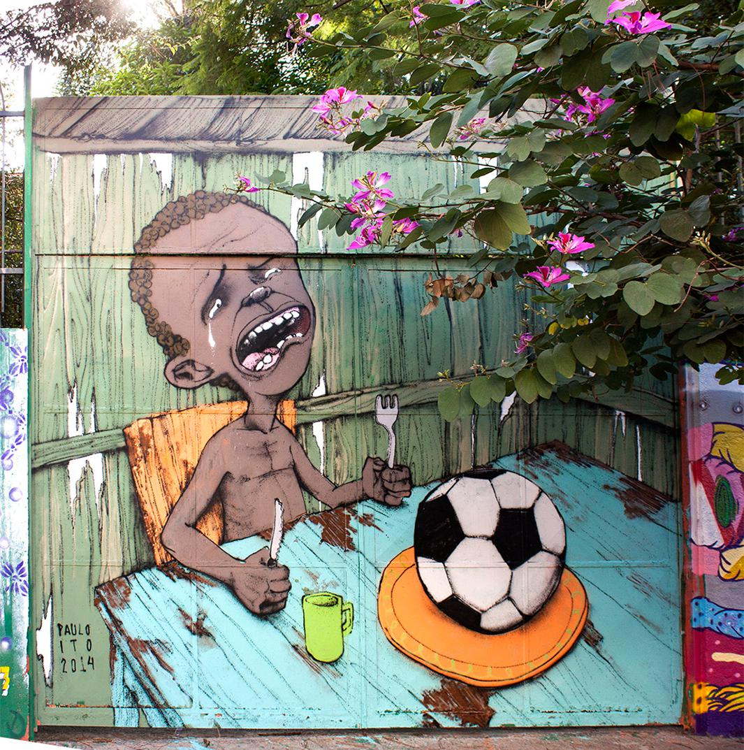 Paulo Ito's World Cup mural