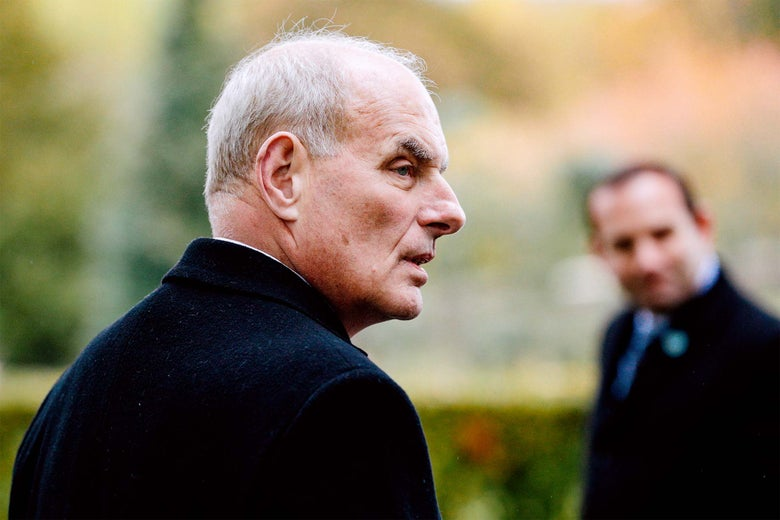 John F Kelly visits the Aisne-Marne American Cemetery and Memorial in Belleau, France, on Nov. 10.