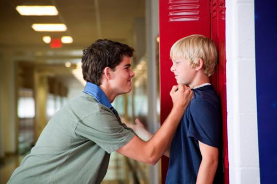 Boy Bullying Another Student.