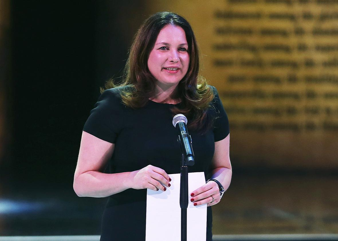 Rukmini Callimachi of the New York Times at the Aurora Prize Ceremony on April 24, 2016 in Yerevan, Armenia.